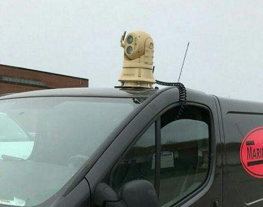 Поворотный тепловизор на автомобиле
