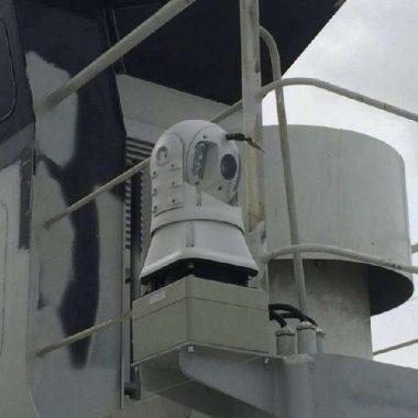 Камера ночного видения с инфракрасной подсветкой на корабле