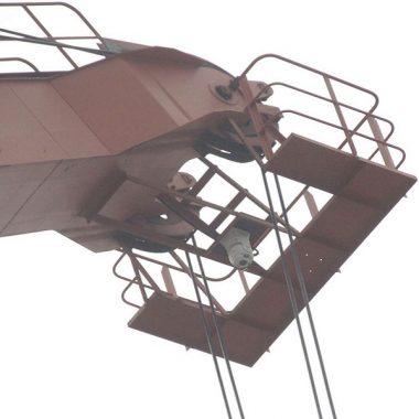 Гиростабилизированная камера ночного видения на подъемном кране